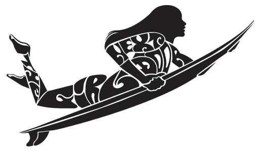 Surf Shop Logo The Girl Next Door Surf Shop